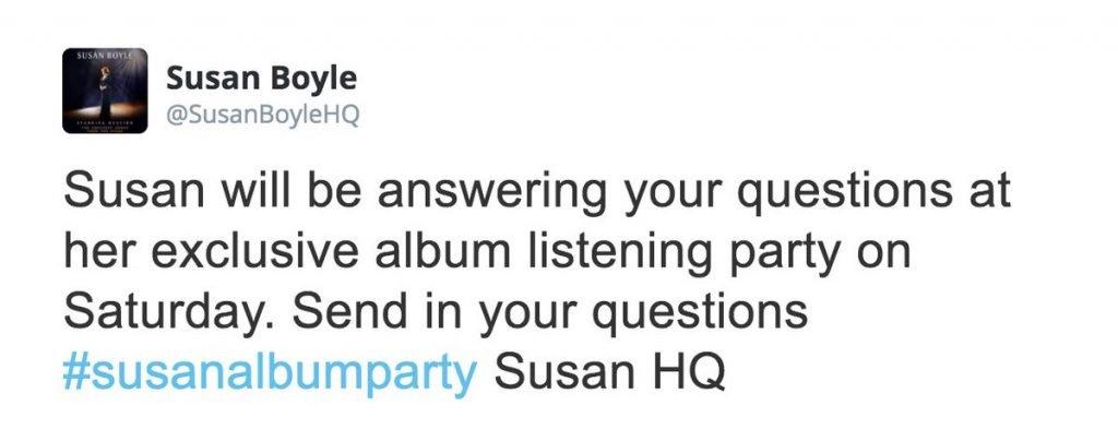 Susan Boyles Misread tweet