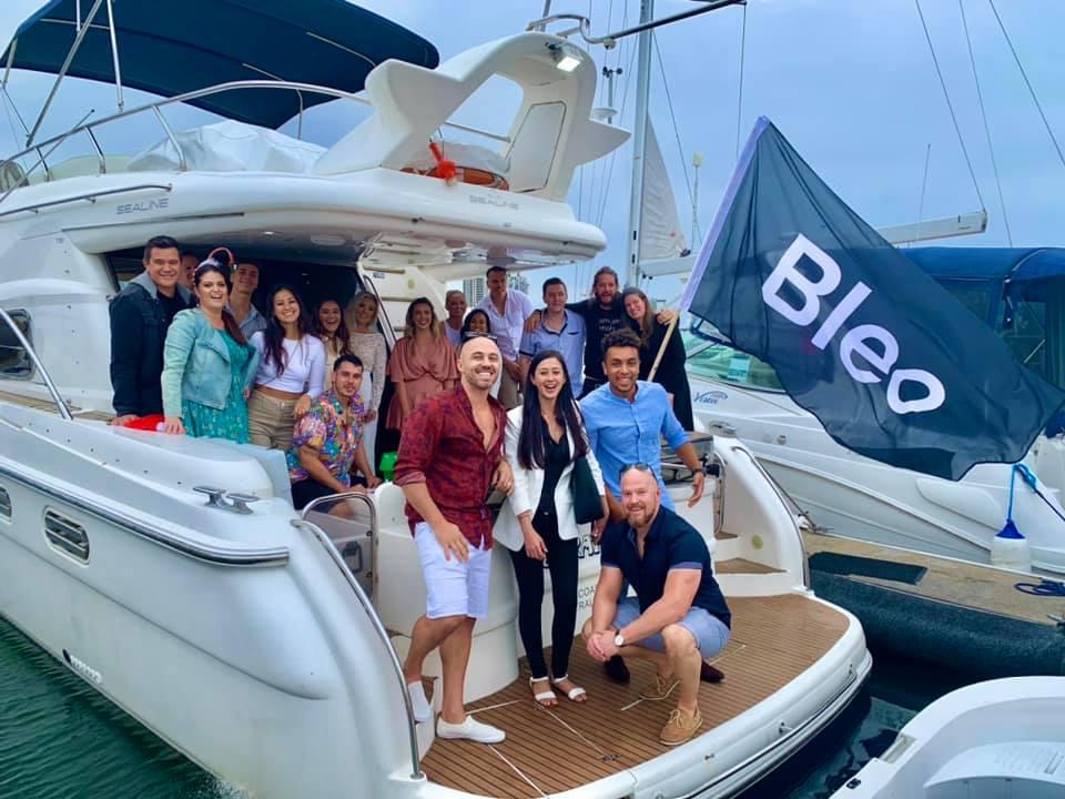 Bleo on the boat