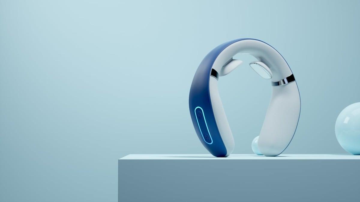 Light Blue Headphones Gadget