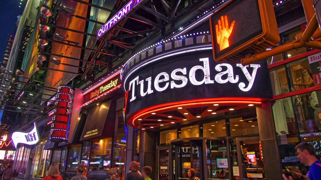 Tuesday night neon sign